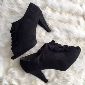 Lane Bryant Shoes - Open Toe Ruffle Booties