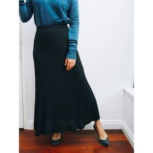 Zara knitted maxi skirt