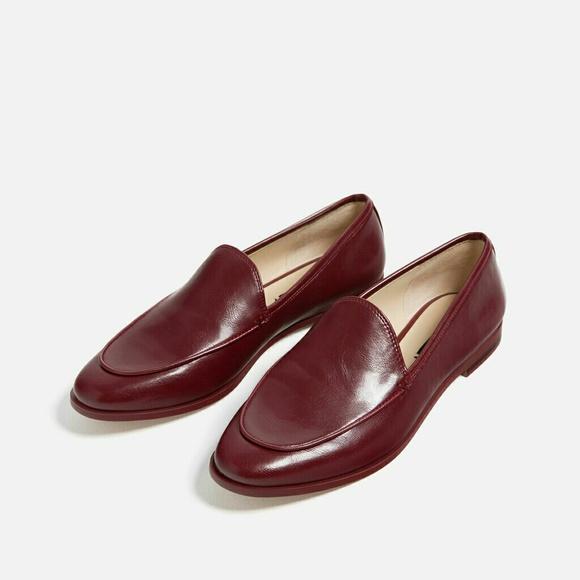573f2f96e23 Zara Burgundy Loafers