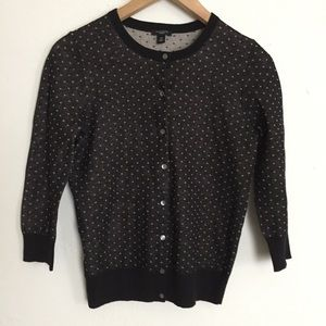 Ann Taylor Sweaters - Ann Taylor Knit Print Button Up Cardigan Sweater