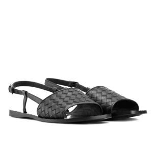 Bottega Veneta Shoes - Bottega Veneta Black Flat Sandal