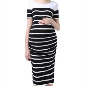Kimi and Kai Dresses & Skirts - Nordstroms Maternity black + white stripe dress