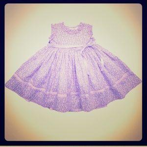 Baby CZ Other - Baby CZ by Caroline Zapf purple ruffle trim dress