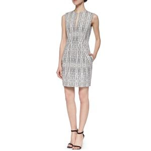L'AGENCE Dresses & Skirts - L'Agence June Split Neck Sleeveless Dress