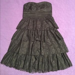 BCX Dresses & Skirts - Strapless black dress with lace