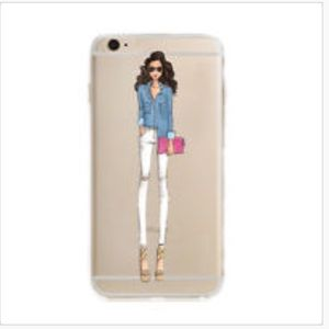 Fashion Girl iPhone 7P Fitted Silicone Case