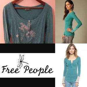 SALE 🌷 Free people teal thermal