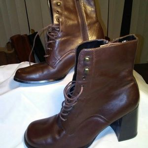 Newport news leather ankle boots
