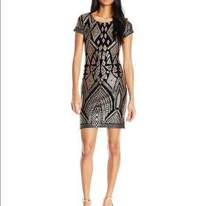 817d3544656 Jump Dresses | Slinky Glitter T Shirt Dress Xs Black Gold | Poshmark