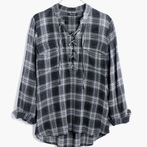 Madewell Terrace Lace Up Shirt