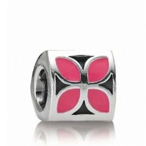 Pandora Jewelry - Pink Flower Enamel Pandora Charm