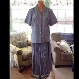 Koret Dresses & Skirts - NEW LISTING-NWOT Koret City Blues Skirt Set M