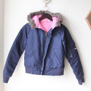 Puma Jackets & Blazers - Puma Navy/Pink Puff Jacket
