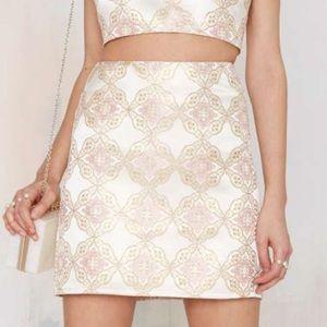 Nasty Gal Glmorous Cecile Brocade Skirt