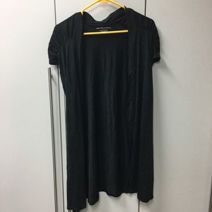 Like New - Med Black Cardigan Like Shirt with Tie
