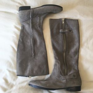 apepazza Shoes - Gray suede riding boots