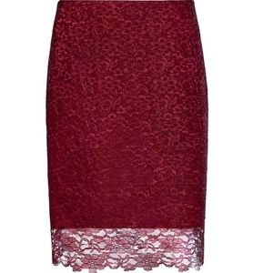 Reiss Skirts - HOST PICK! • NWT Reiss | Dree red lace skirt