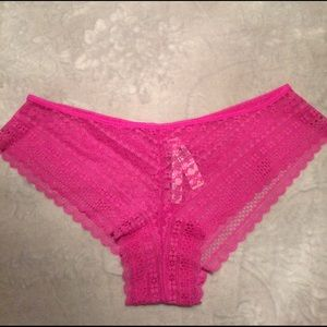 Victoria's Secret Pink Lace Cheeky Panty L NWT
