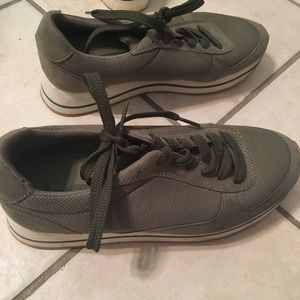 Zara basic collection green sneakers
