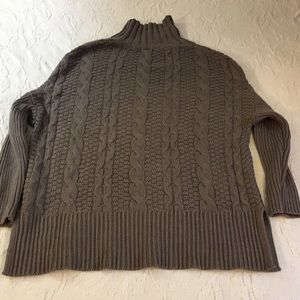 Old Navy Sand/Mocha Colored Turtleneck Sweater