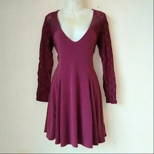 Kimchi Blue Dresses & Skirts - Kimchi Blue Dark Pink Lace Dress
