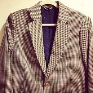 Giorgio Armani Other - Giorgio Armani brown/blue/tan checkered sport coat