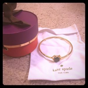 Kate spade black gem and gold bangle
