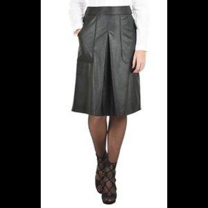 New Eshakti Faux Leather A-line Skirt L 14