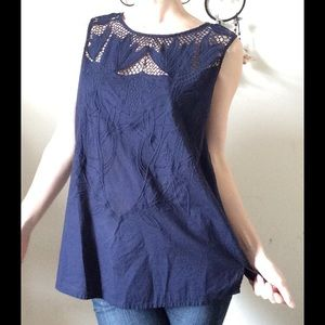 Bass Tops - Bird of Paradise Cut Out Cotton Lace Blouse Summer