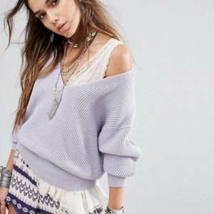 Free people allure v neck sweater oversize