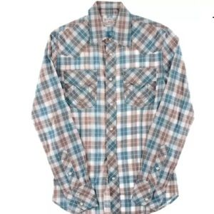 True Religion Other - True Religion Blue Checkered Embroidered Shirt