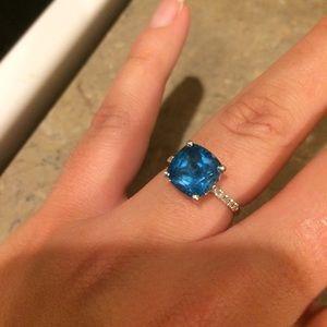 Zales Jewelry - Zales London Blue Topaz and Diamond Ring🌷