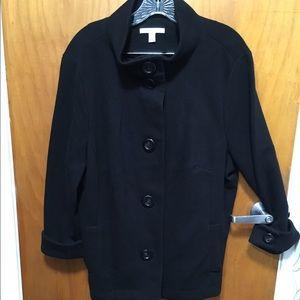 JM Collection Jackets & Blazers - Black ribbed cotton jacket