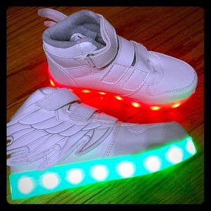 Other - High Top Kid's Light Up Sneakers