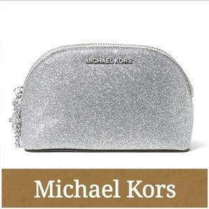 Michael Kors Handbags - NWT Michael Kors Glitter Pouch!