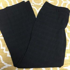 Like New Size 14 Tall Black Plaid Trouser Pants