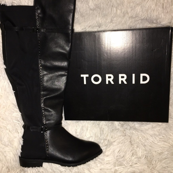 f0cf15d28429 torrid Shoes | Studded Scuba Back Over The Knee Boots | Poshmark