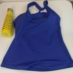 Mika Yoga Wear Tops - Mika Yoga Blue Braided Strap Tank Top Sz Large