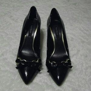 White House Black Market Shoes - White House Black Market Patent Leather Heels