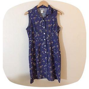 •90's VTG Floral Mini Tank Dress•