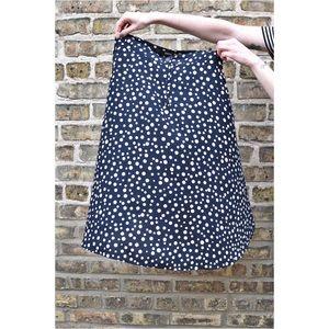 Brooklyn Industries Dresses & Skirts - Polka Dot Midi-Skirt in Navy