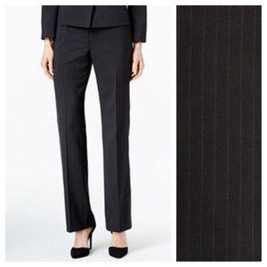 Le Suit Pants - Le Suit Black & Blue Pinstripes Pants Slacks ✨