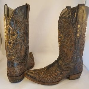 Other - Corral man western cowboy boots wings cross 9 EE
