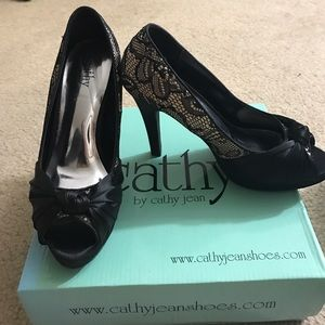 Cathy Jean Shoes - Cathy jean lace heels
