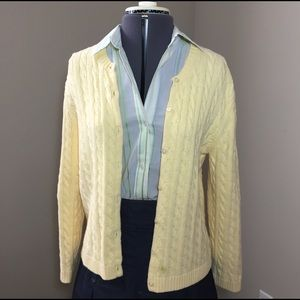 Appleseed Sweaters - Yellow Chunky Knit Cardigan