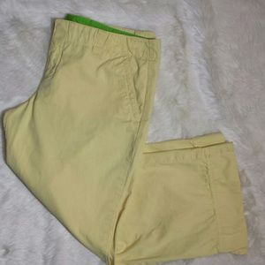 Lilly Pulitzer Pants - Lilly Pulitzer Yellow Crop Capri Palm Beach Size 8