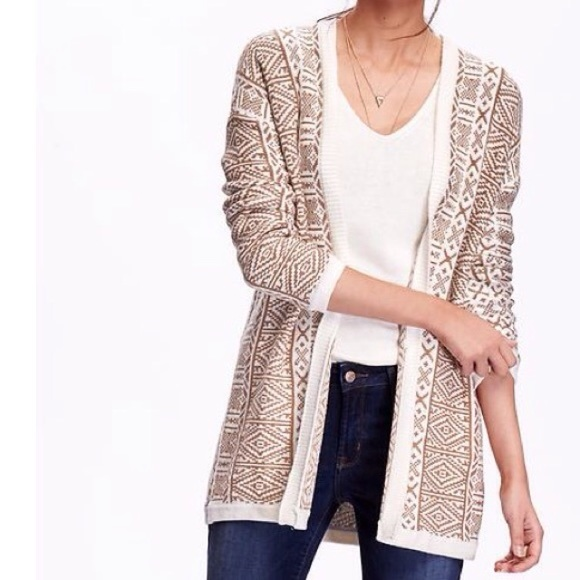 67% off Old Navy Sweaters - Old Navy Fair Isle Comfy Cardigan -S/M ...
