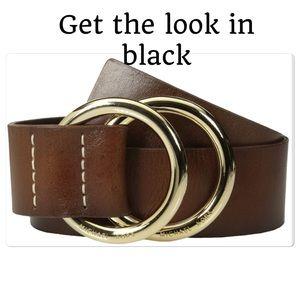 Black Michael Kors double buckle belt