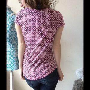 Ann Taylor Tops - NWOT Ann Taylor Fuscia Celtic Knot Tee Shirt