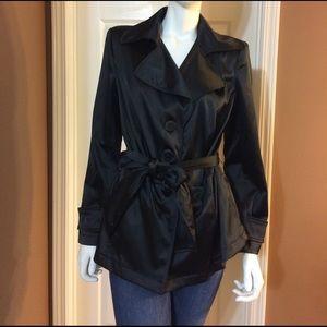 Lane Bryant Jackets & Blazers - NWT Lane Bryant Black Button Up / Belted Coat